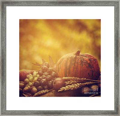 Autumn Concept Framed Print