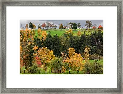 Autumn Country Framed Print by Bill Wakeley