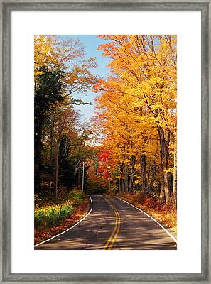 Autumn Country Road Framed Print