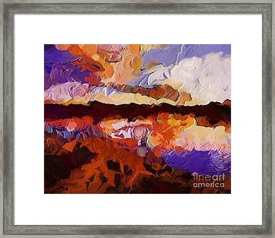 Autumn Cove Framed Print by Dorinda K Skains