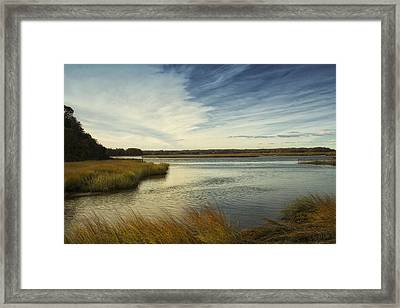 Autumn Creek Framed Print by Bob Retnauer
