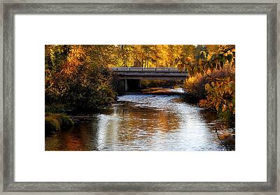 Autumn Crossing Framed Print by Jan Davies