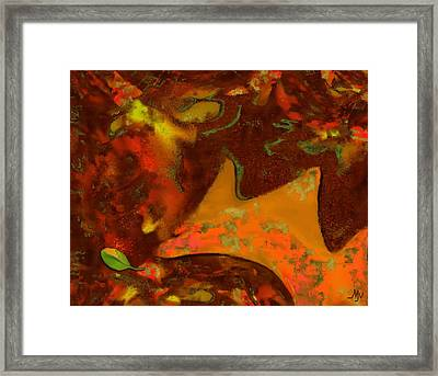 Autumn Crown Framed Print by Mathilde Vhargon