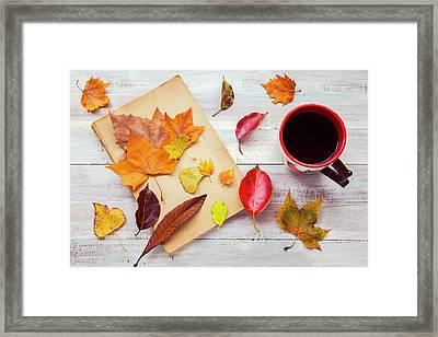 Autumn Cup Of Tea Framed Print