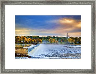 Autumn Dam Framed Print by Troy Schopp