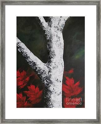 Autumn Dance Framed Print by Beverly Livingstone