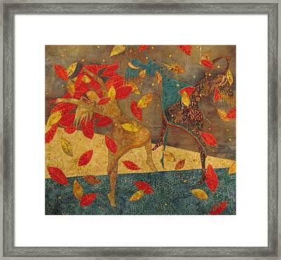 Autumn Dance Framed Print by Lynda K Boardman