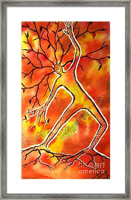 Autumn Dancing Framed Print by Leanne Seymour