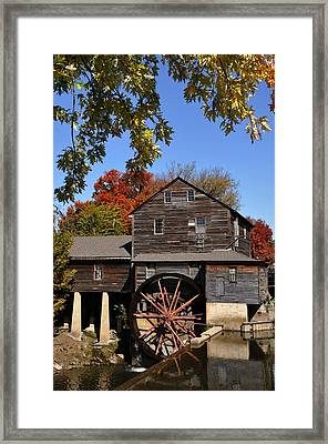 Autumn Day At The Old Mill Framed Print by John Saunders