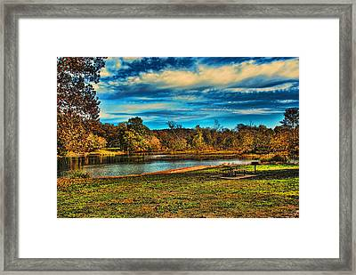 Autumn Day On The River Framed Print