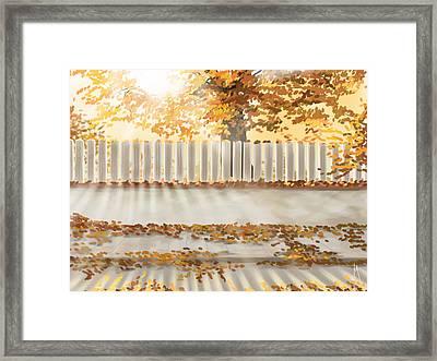 Autumn Day Framed Print by Veronica Minozzi