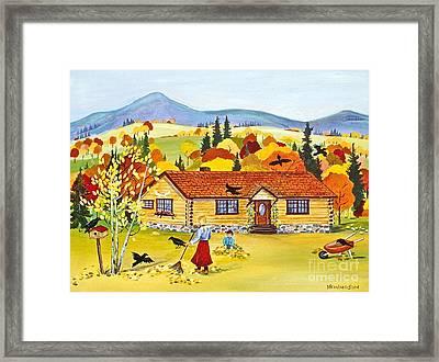Autumn Days Framed Print by Virginia Ann Hemingson