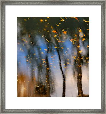Autumn Daze - Abstract Reflection Framed Print