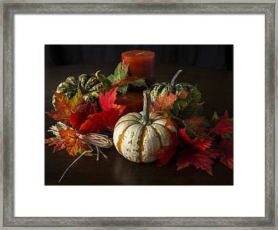 Autumn Delight Framed Print by Jeff Burton