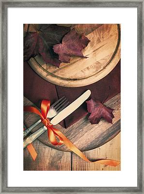 Autumn Dining Framed Print
