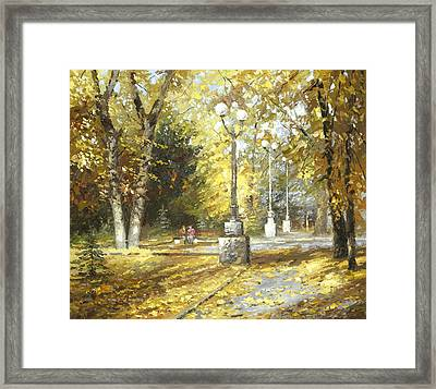 Autumn Framed Print by Dmitry Spiros