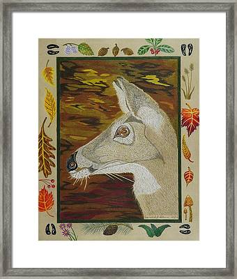 Autumn Doe   Framed Print by Gerald Strine