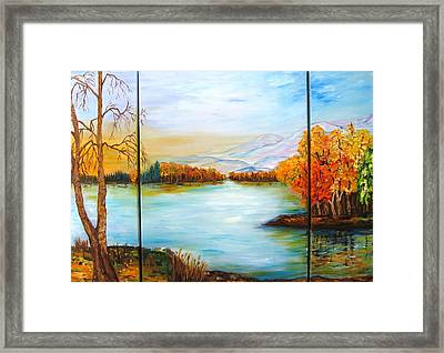 Autumn Framed Print by Doris Cohen