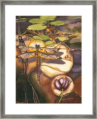 Autumn Dragonfly Framed Print