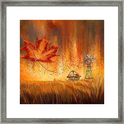 Autumn Dreams- Autumn Impressionism Paintings Framed Print by Lourry Legarde