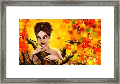 Autumn Elf Princess Framed Print