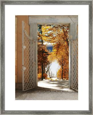 Autumn Entrance Framed Print