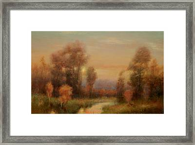 Autumn Evening Glow Framed Print