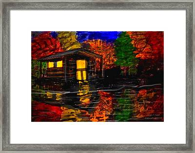 Autumn Evening Framed Print by Larry E  Lamb