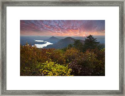 Autumn Evening Star Framed Print by Debra and Dave Vanderlaan