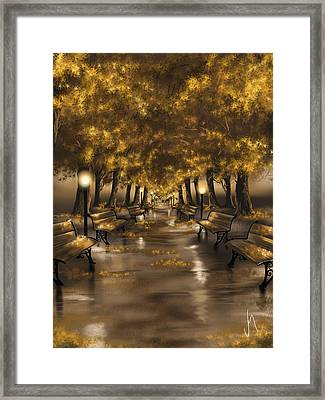Autumn Evening Framed Print by Veronica Minozzi