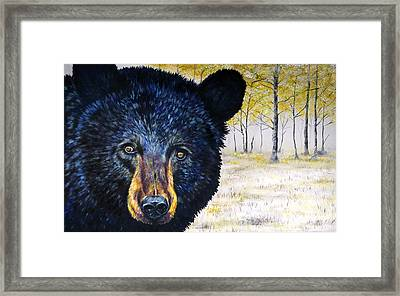 Autumn Eyes Framed Print by Teshia Art