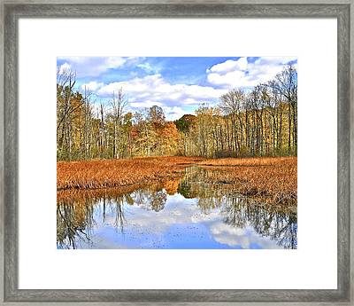 Autumn Fades Framed Print by Frozen in Time Fine Art Photography