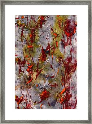 Framed Print featuring the painting Autumn Faeries by Lesley Fletcher
