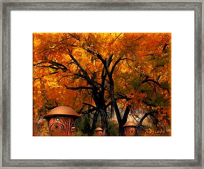 Autumn Fairies Resort Framed Print