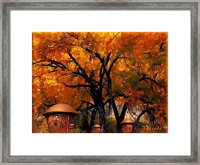 Autumn Fairies Resort Framed Print by Giada Rossi