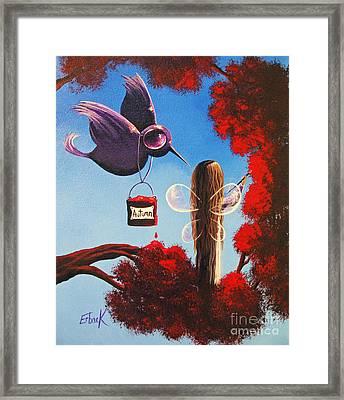 Autumn Fairy By Shawna Erback Framed Print