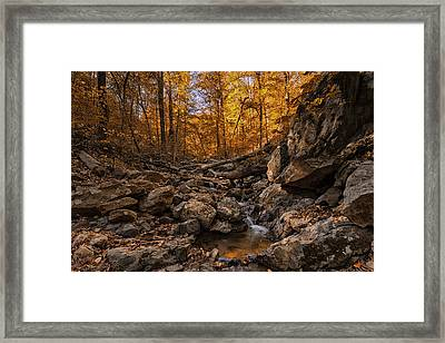 Autumn Falls Framed Print by Edward Kreis
