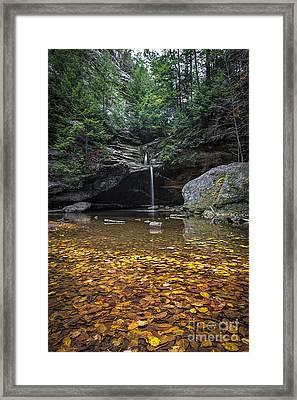 Autumn Falls Framed Print by James Dean