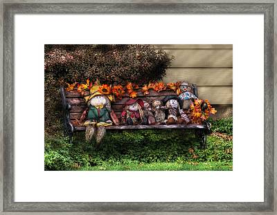 Autumn - Family Reunion Framed Print by Mike Savad