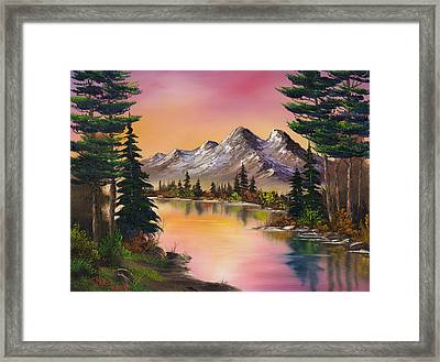 Mountain Fantasy Framed Print by C Steele