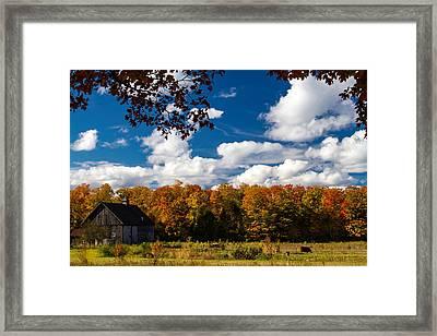Autumn Farm Framed Print