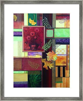 Autumn Faux Collage  Framed Print