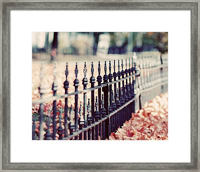 Autumn Fence Photograph Framed Print by Elle Moss