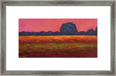 Autumn Field Dusk Framed Print by Vernon Reinike