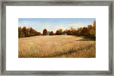 Autumn Field Southern Maryland Framed Print