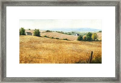 Autumn Fields Maryland Rt40 West Framed Print by G Linsenmayer