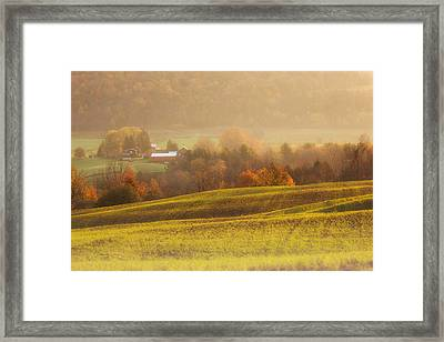 Autumn Fields Framed Print