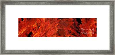 Autumn Fire Abstract Pano 2 Framed Print by Andee Design