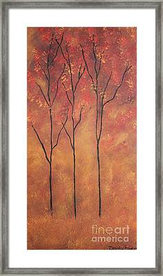 Framed Print featuring the painting Autumn Fire by Christie Minalga