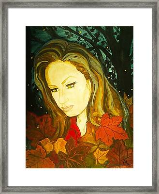Autumn Fireflies Framed Print